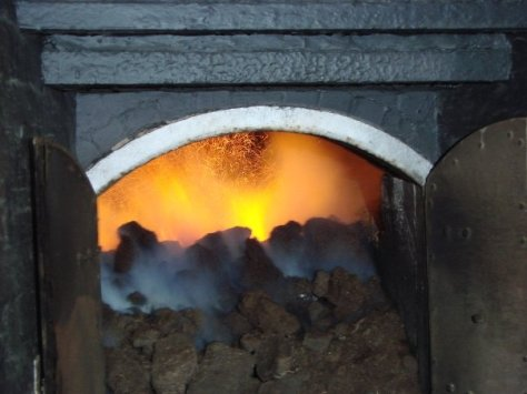 Peat fire at Laphroaig