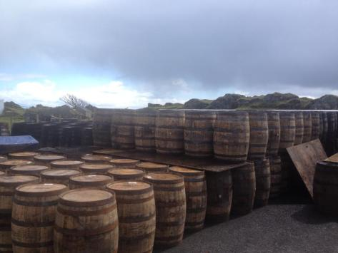 Casks at Ardbeg