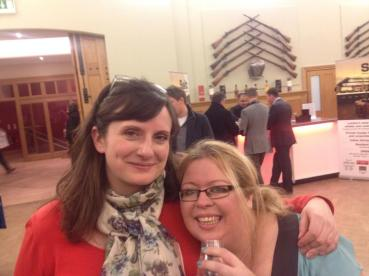Amy and Kirsty enjoying a dram WL