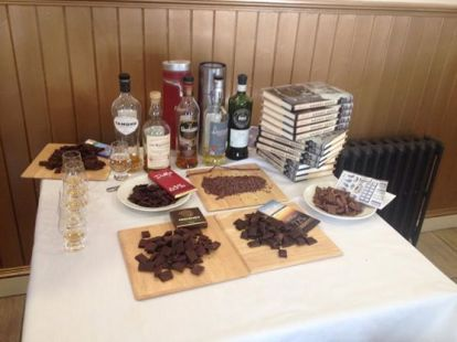 Chocolate and Whisky ready to go