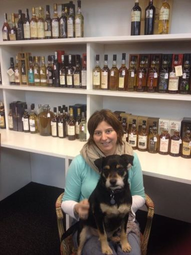 Kirsty with some of this month's sale whisky