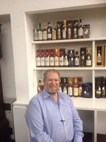 Stewart with some of this sale's whisky