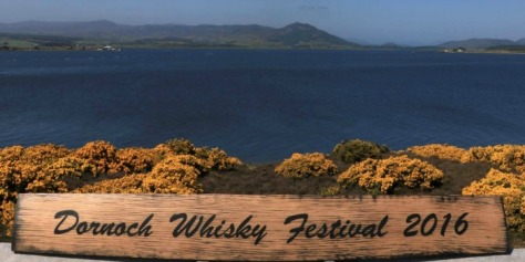 Dornoch Whisky Festival 2016 with view.